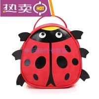 新款韩版时尚儿童书包可爱卡通瓢虫背包宝宝幼儿园男女童迷你小型双肩背包手提背包潮