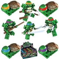 智业展变王可会变形的积木忍者神龟拼装公仔摆件玩具模型