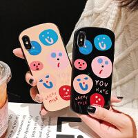 涂鸦笑脸8plus苹果x手机壳XS Max/XR/iPhoneX/7p/6女iphone6s情侣 XR (椭圆) 多变