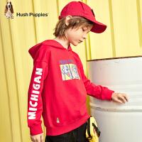 【2件5折:129】暇步士童装男童卫衣2020年春季新款儿童连帽拜年装潮中大童套头衫