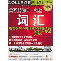 大学英语四、六级词汇看图识字与拼读声忆红蓝卡背30天一本全