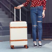 行李箱旅行箱复古拉杆箱女韩版小清新密码箱学生皮箱20寸登机箱男