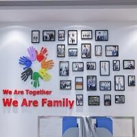 团队风采亚克力墙贴画公司企业文化墙照片贴纸励志标语办公室装饰 大