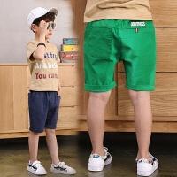 童装男童短裤夏季儿童中裤五分裤中大童棉麻风薄款防蚊裤