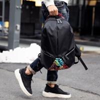 潮男个性时尚双肩包大容量休闲旅行背包户外运动包简约男女情侣包