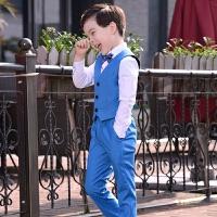 儿童礼服小花童马甲西服套装男童小西装主持人男孩钢琴演出表演服