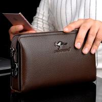 男士手包休闲大容量手拿包软皮夹包防盗密码锁钱包长款拉链
