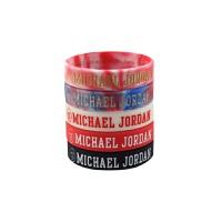 运动配饰时尚篮球球星手环乔丹励志手腕带夜光情侣白色荧光运动手环篮球球迷用品周边纪念品