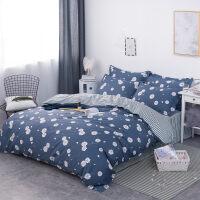 韩式全棉家纺1.5/1.8/2.0m床上用品四件套学生单人纯棉套件