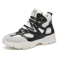 高帮男鞋新款加绒秋冬季韩版潮流嘻哈高邦运动鞋子男休闲增高板鞋