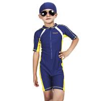 儿童泳衣速干男童防晒连体学生女孩中大童保暖温泉冬季小童泳裤