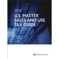 【预订】U.S. Master Sales & Use Tax Guide, 2016 9780808042761