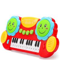 育儿宝多功能婴儿手拍鼓儿童早教玩具电子琴音乐琴鼓拍拍琴鼓