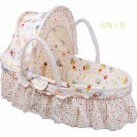 W 婴儿摇篮床新生儿摇篮摇床婴儿篮便携手提篮子睡篮宝宝草编婴儿床D8