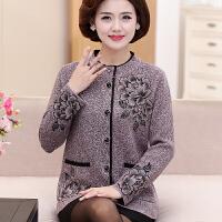 中老年人秋冬装女装毛衣奶奶针织衫老人外套妈妈60-70岁宽松加厚