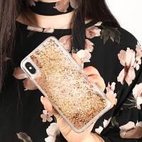 定制2019新款网红苹果x max iphone6 7 8流沙手机保护壳sj007 金色 iPhone6/6s/7/8