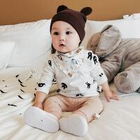 婴儿衣服秋装纯棉上衣新生儿幼儿0-3岁韩版长袖打底衫宝宝T恤