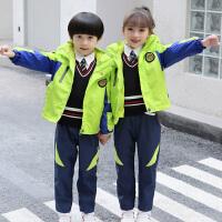 幼儿园园服儿童学院风秋冬装校服秋冬季小学生班服冲锋衣运动套装