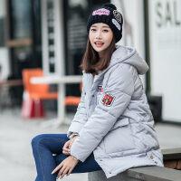 少女冬装外套加厚棉衣2018新款韩版中长款高中初中学生女棉袄