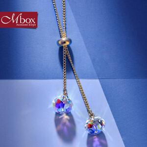 新年礼物Mbox项链 女韩国版采用波西米亚风元素时尚锁骨项链颈链 浅笑嫣然