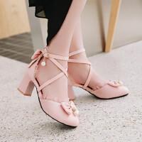 夏季小女孩儿童高跟舞蹈鞋大童凉鞋韩版甜美蝴蝶结少女公主鞋