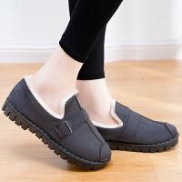 妈妈鞋 女士冬季时尚豆豆鞋2020新款妈妈棉鞋女式防滑软底加绒保暖月子鞋女鞋子