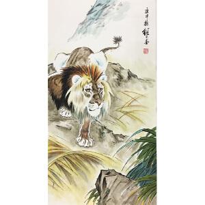 刘继卣《雄狮下山》著名画家