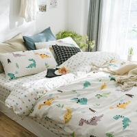 北欧简约小清新纯棉1.8床单四件套 全棉床上用品田园风被套床笠