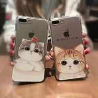 苹果iPhone7/7plus/6/6s/6plus/6s plus 卡通可爱短毛情侣猫手机壳防摔软壳 iPhone8