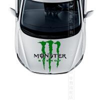 车饰2012 13新款福克斯嘉年华科鲁兹高尔夫6改装鬼爪引擎盖头贴纸