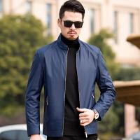 中年男外套夹克薄款2018新款中老年人男装春秋季40岁50爸爸春装