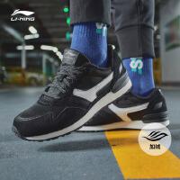 李宁休闲鞋男鞋新款峥嵘加绒保暖耐磨时尚复古运动鞋AGCN359