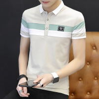 夏季男士短袖T恤翻领polo衫韩版修身青少年学生潮男装T恤有领上衣