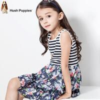 【3件3折:98.4元】暇步士童装女童连衣裙夏季条纹拼接连衣裙