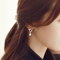 欧丁韩国s925纯银耳针耳钉女简约唯美气质耳饰耳环H