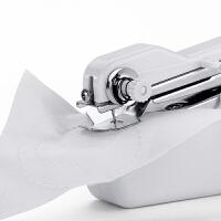 微型台式电动家用小型缝纫机迷你电动 多功能手持简易缝纫机 米白色 不带适配器电池