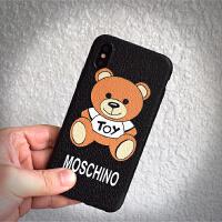 苹果7moschino小熊手机壳plus女款情侣超薄软套X气质卡通8