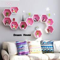 墙上置物架壁挂墙面创意格子电视背景墙装饰架客厅墙壁置物架隔板3yl