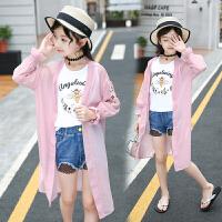 女童防晒衣中长款韩版夏季中大童洋气透气儿童防晒服薄款