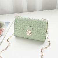 新款印花链条单肩斜跨女包时尚锁扣小方包小清新手机小包包BLL078-1