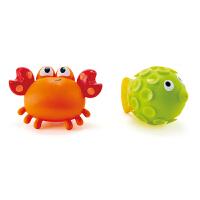 Hape吸吸乐戏水玩偶组 螃蟹和小鱼 章鱼和海星 18个月以上婴幼玩具儿童戏水玩具浴室玩具