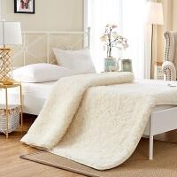 纯羊毛床垫1.8m床加厚保暖床褥子冬季垫被学生0.9单双人1.5米