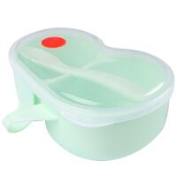 辅食碗婴儿碗勺套装儿童餐具外出宝宝吃饭碗便携分格碗