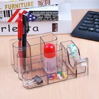文具多功能笔筒创意时尚笔桶桌面摆件办公用品收纳盒笔筒多用笔座