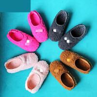 儿童毛毛拖鞋女冬儿童棉拖鞋冬宝宝家居鞋男女童毛毛地板1-3岁婴幼儿园室内 TBP