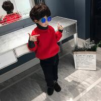 №【2019新款】冬天儿童穿的童装男童卫衣加绒儿童高领上衣中大童韩版加厚潮衣