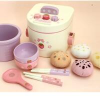 新款仿真厨房玩具电饭锅儿童过家家做饭木制玩具