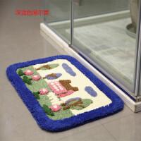 惠多植绒吸水地垫 卧室浴室厨房防滑垫子脚踏垫绒面地毯门垫