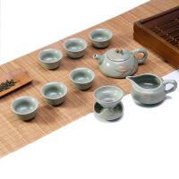 茶具套装陶瓷纯手工汝瓷功夫茶具套装陶瓷手工玛瑙冰裂釉整套