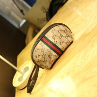 便携大号化妆包大容量简约随身可爱旅行韩国小手包式防水手拿包